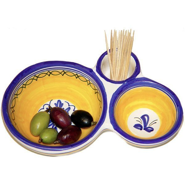 Spanish ceramic olive dish tray from Spain