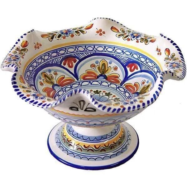 Spanish ceramic fruit bowl