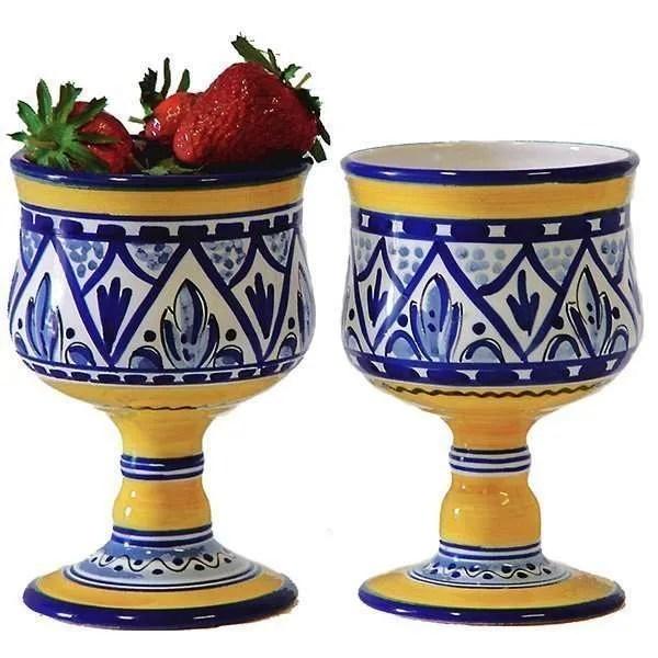 Spanish ceramic sangria glass
