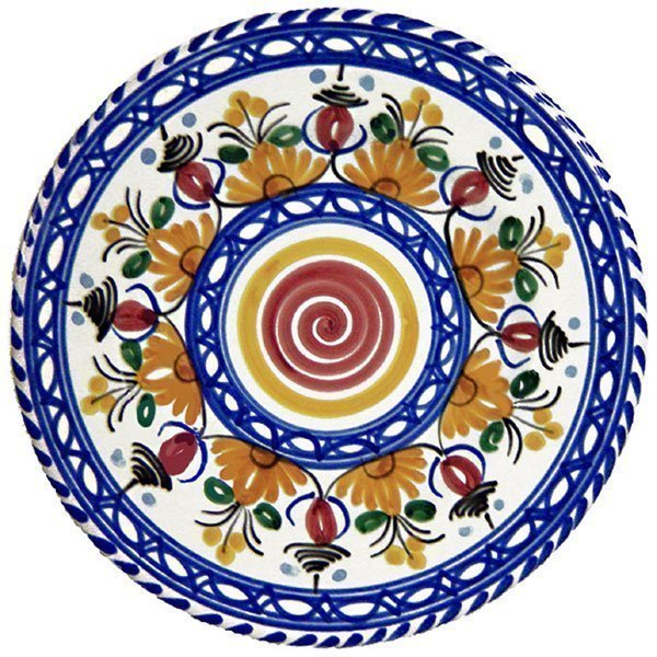 Spanish ceramic tapas plate