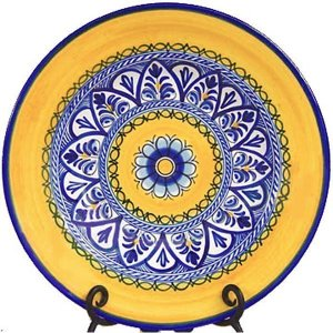 Fiesta Yellow Charger Plate from Spain