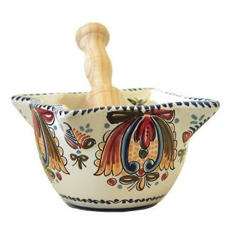 Spanish Ceramic Mortar and Pestle