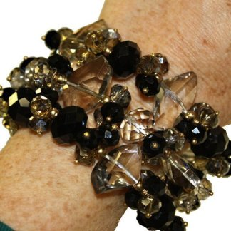Black Crystal Bracelet from Spain