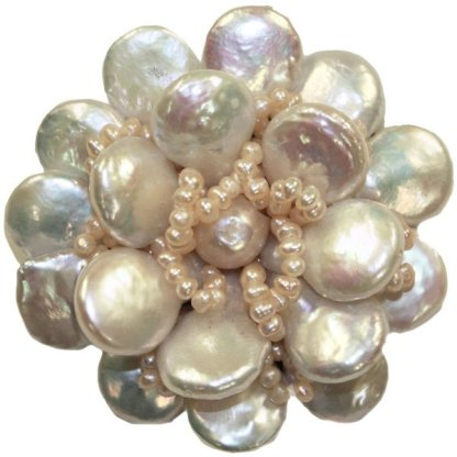 Unique Handmade Pearl Flower Pin