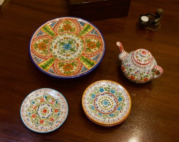 Mosaic Cake Plate
