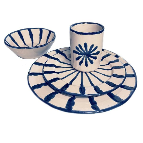 Marine Blue Granada Plates