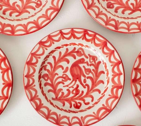 Granada Red Bird Plates