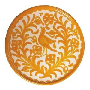 Fajalauza Yellow Bird Plate