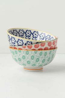 Anthropologie Atom art bowls