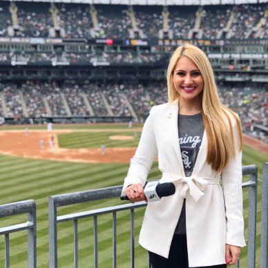 Alyssa Bergamini at White Sox game