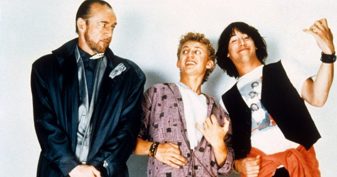 George Carlin with Bill and Ted