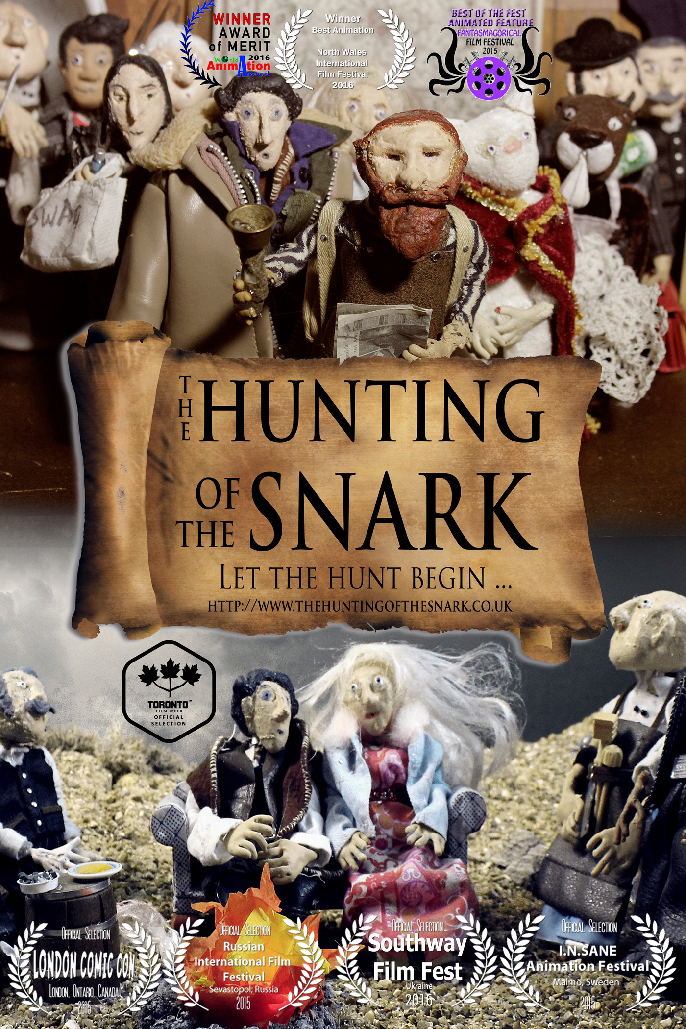 Lewis Carroll's Hunting of the Snark, by Sarane Bensusan,British animation