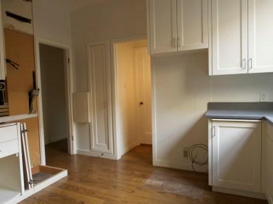 Fridge & Doors area with Fridge and Hallway Door Removed, Day One