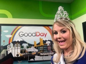 Ms. Vacaville in the Good Day Sacramento Green Room