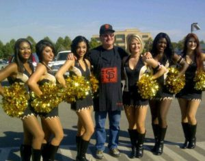 Sacramento Mountain Lions Cheerleaders with My Dad