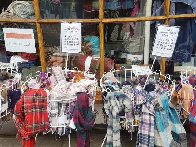 Tartan scarves, from the corner table, #fromthecornertable scotland, gifts, mementos, what to buy