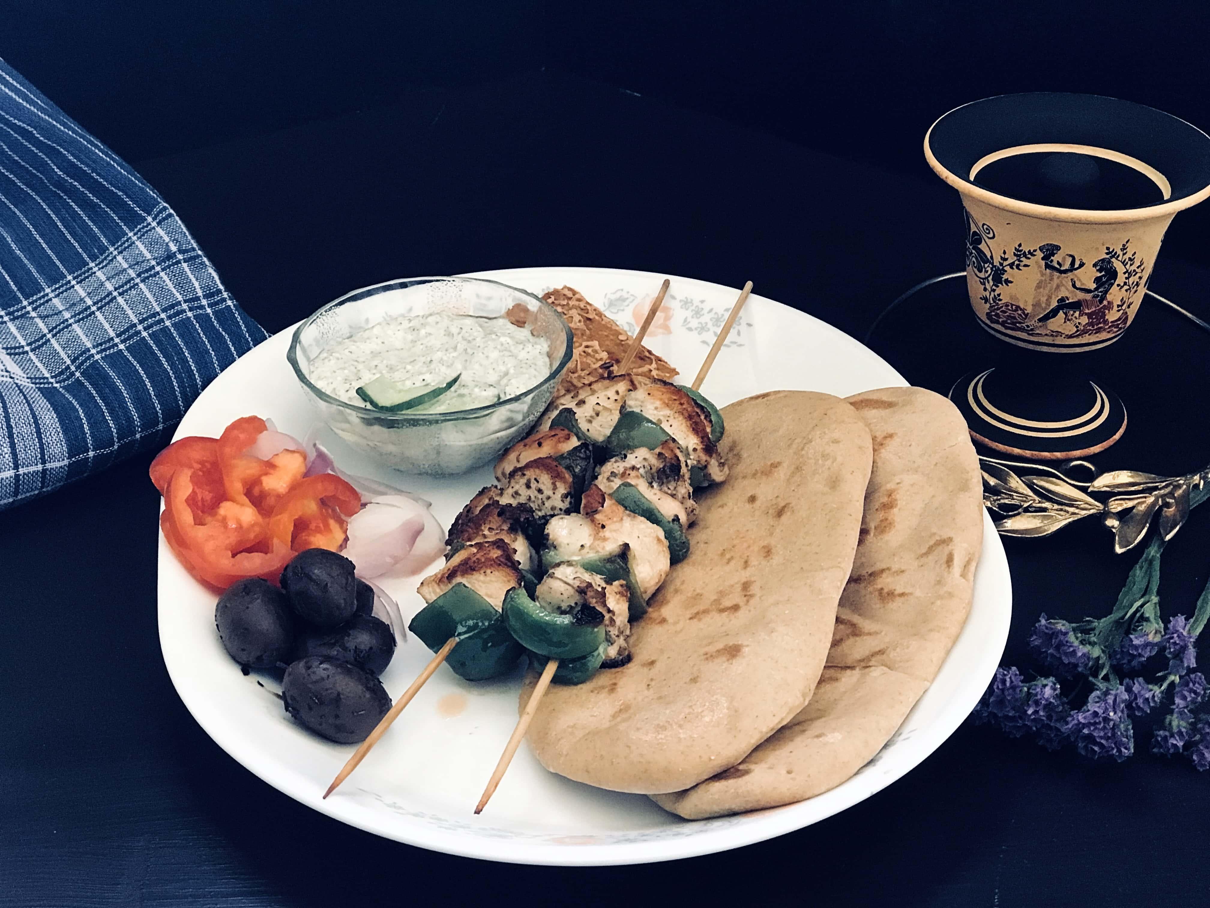 Greek Souvlaki, from the corner table, #fromthecornertable