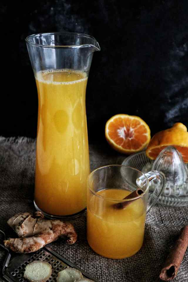orange ginger tea, fromthecornertable, from the corner table, tea, recipe