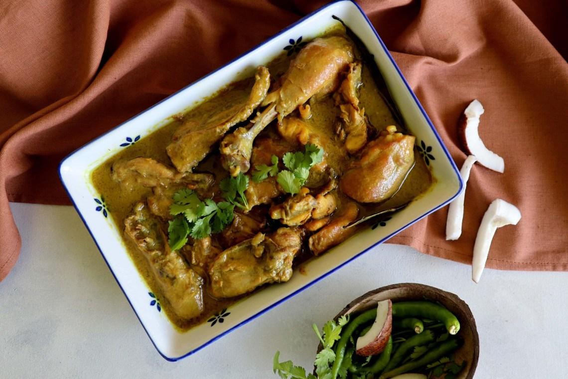 fromthecornertable, from the corner table, traveltuckintalk, tuck-in, bengalifood, bengalirecipe, chicken, coconut gravy, narkel malai murg