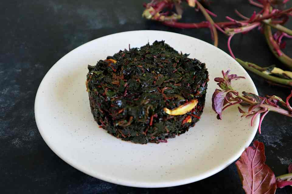 fromthecornertable, from the corner table, lal shaak, red spinach, chinese spinach
