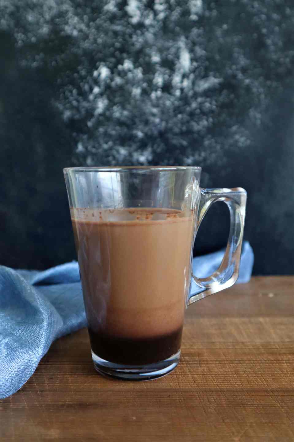 Dalgona, hot coffee, cocoa coffee, fromthecornertable, from the corner table, copyright image