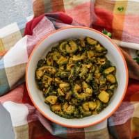 Korola aloo chorchori | Bengali-style bitter gourd & potato