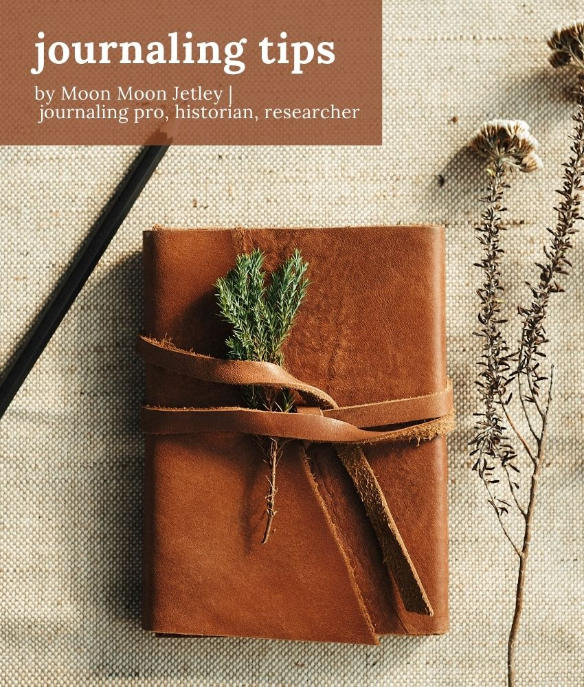 journaling tips | representational image on From The Corner Table
