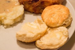 What's better with biscuits than Southern fired chicken, mashed potatoes, and gravy?