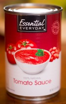 Canned tomato sauce makes for easy cooking, but chop up a few fresh tomatoes for texture