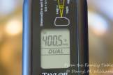 Showing off my new combination infra-red/instant-read probe thermometer. Use your favorite for deep fat frying.