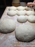 Dough for eight regular and two large loaves