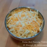 Three kinds of grated cheese