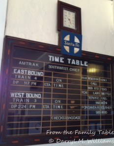 The time table at the Lamy station. Probably the on time signs have never been changed