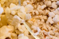 Popped corn on the left; popped sorghum on the right