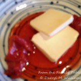 miso-cured cream cheese with pickled strawberries