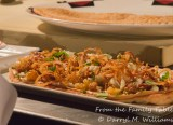 Plancha bread with roasted cauliflower and crispy shallots - demonstration