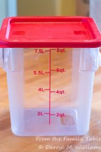 Clear plastic container perfect for fermentation