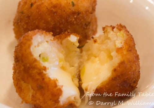 Crispy on the outside and creamy on the inside with gooey mozzarella