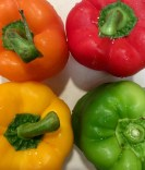 Four colors of bell peppers