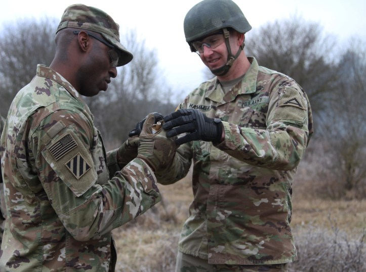 Soldiers Train with Pyrotechnics to become a Qualified Observer Coach on JMRC Ranges
