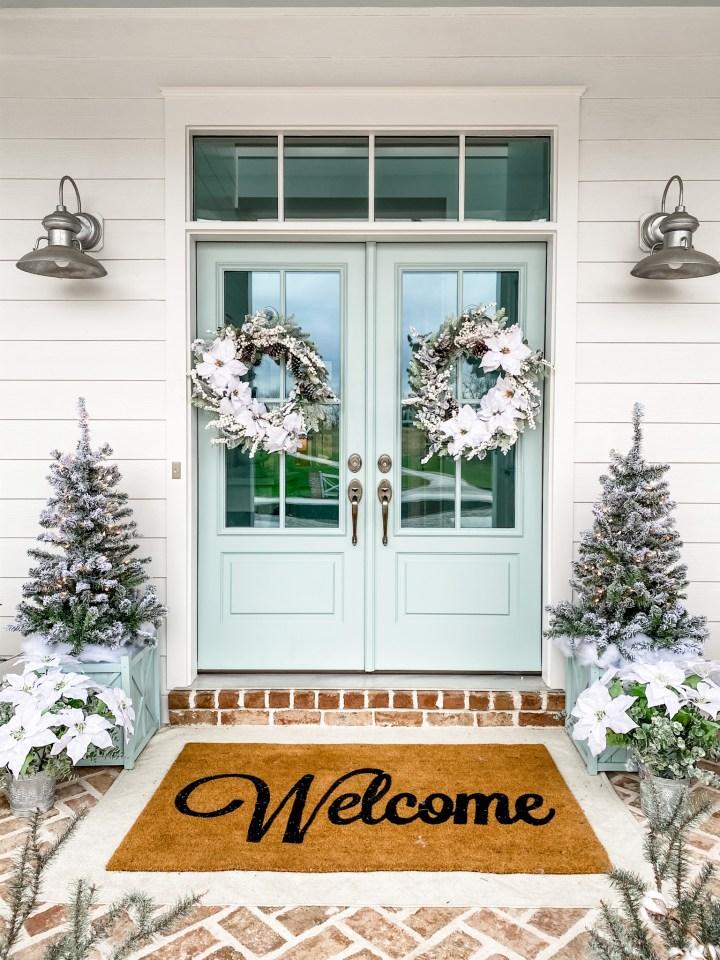 illustrious Christmas front porch