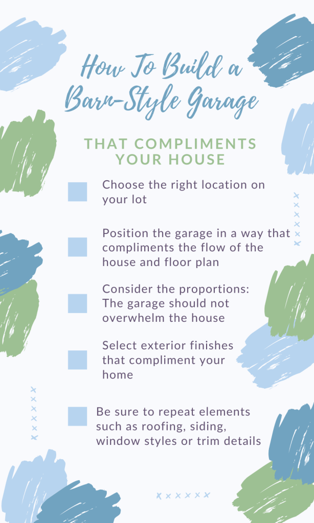 how to make your garage complement your house