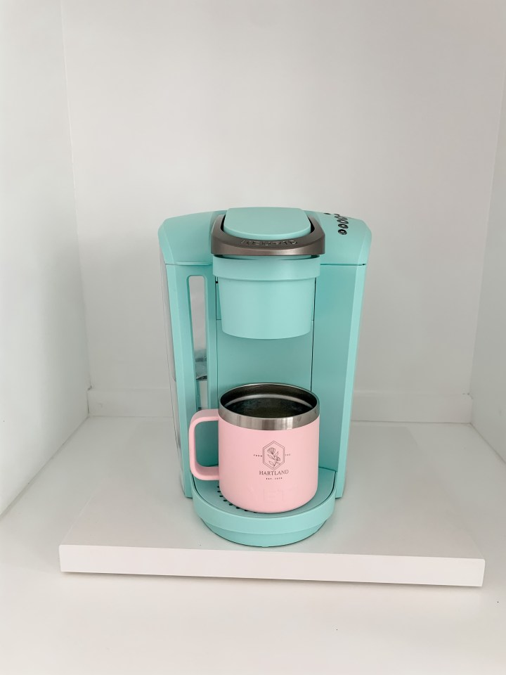 blue keurig coffee maker