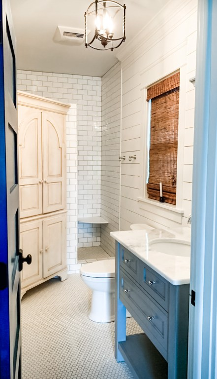 marble countertops in a bathroom