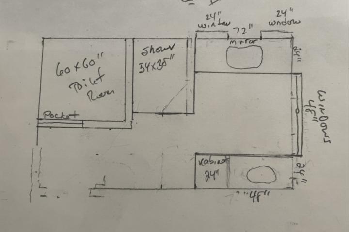 master bathroom sketch