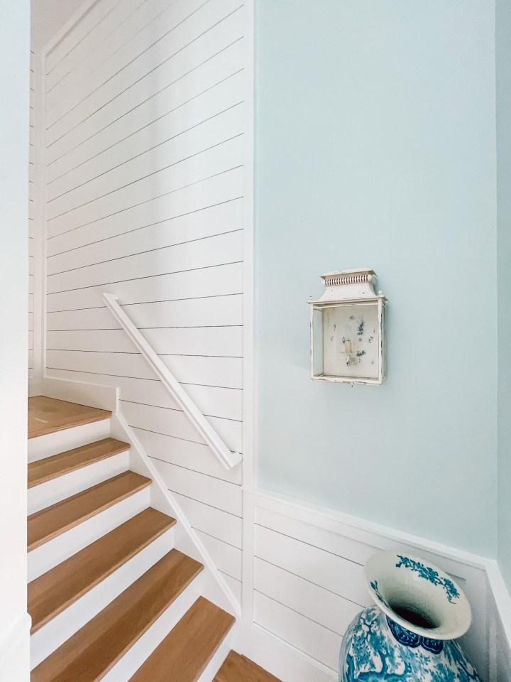 shiplap in a stairway