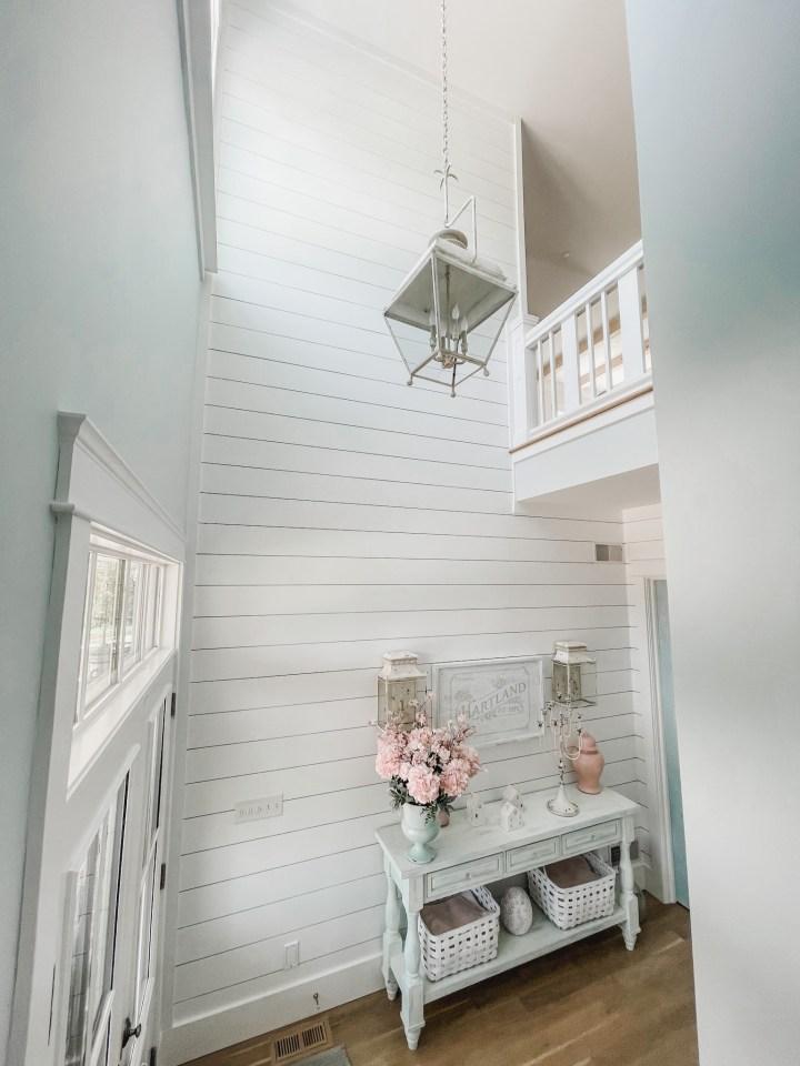 shiplap in a foyer or entryway