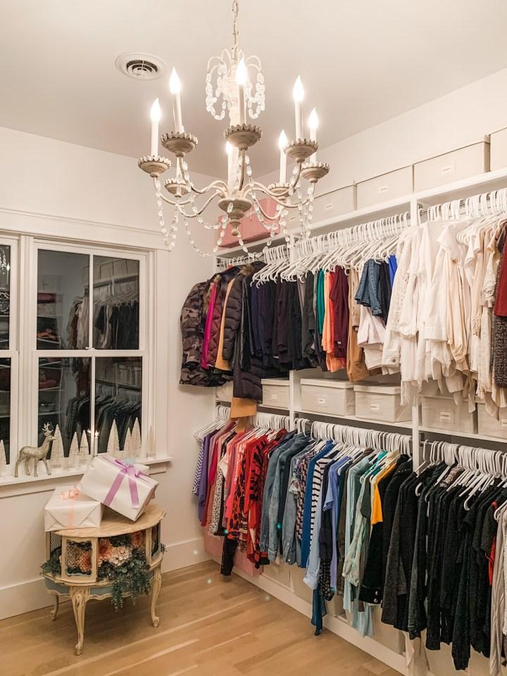 dressing room clothing racks
