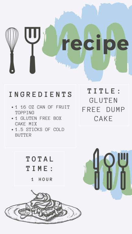 dump cake recipe card