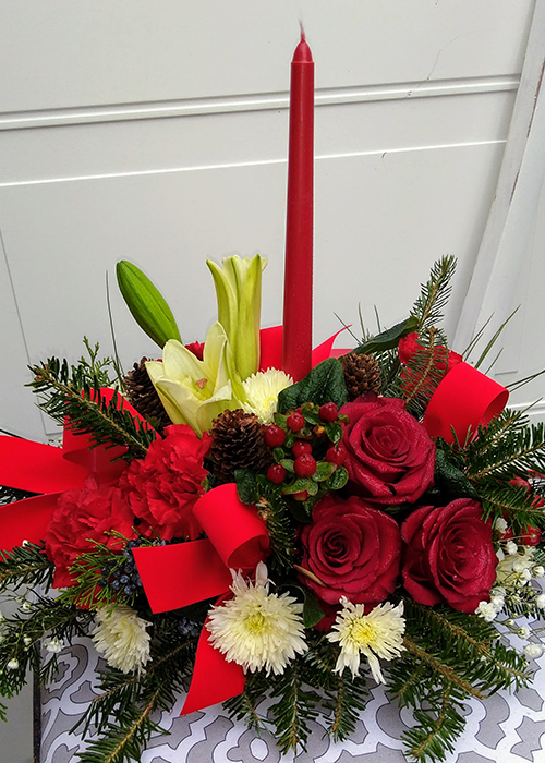 From the Heart Florist Christmas Centerpiece Arrangement